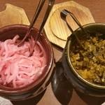 麺場居酒屋 ラの壱 - 紅しょうがと高菜