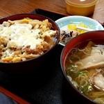 48982476 - チーズカツ丼 ミニラーメン付き(2016.03)
