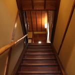 よーじやカフェ - 2階への階段☆