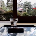 よーじやカフェ - 座敷から見える庭☆