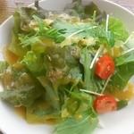 オステリア ウチェッロ - ランチに付くサラダはセットにしては多め。