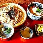 松ノ木 - ざるそば+ミニマグロ山かけ丼 1200円