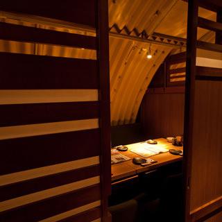 【優雅な個室】大人が寛げる少人数個室完備