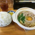 鍋焼きラーメン千秋 - 鍋焼きラーメン並&ごはん小