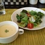 ワンシーン - スープとサラダ♪
