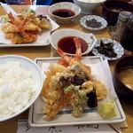 天八 - 料理写真:天ぷら定食「天ぷら7品/御飯/味噌汁/香の物」