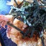 奥会津 - 天丼のアップ写真。