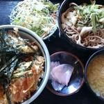 奥会津 - 天丼・蕎麦(山菜)