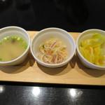 マンゴツリーカフェ - ランチは3種の前菜付き