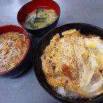 浅間そば - カツ丼(500円)+ミニかけそば(140円)