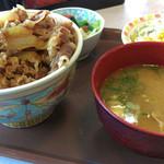 すき家 - 春のえび塩キャベツ牛丼~☆