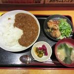 ぢどり亭 - 超辛チキンカレー定食