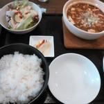 中華食堂 あんじょう - 麻婆豆腐ランチ(ごはん大盛り)