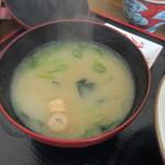 匠 - 海鮮丼の味噌汁