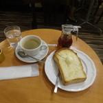 カフェ・ド・ボア - モーニングトーストセット880円