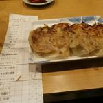 名代ラーメン亭 - セットの餃子
