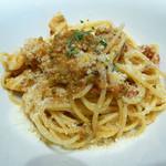 49016004 - フレッシュトマト、ドライトマト、オリーブ、ホタテの南イタリア風シンプルスパゲティ