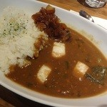 49016202 - 鶏そぼろと小松菜と長芋のカレー