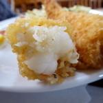 あらかわ食堂 - 海老フライ定食