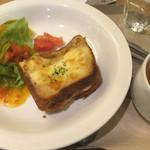 カフェ ソラーレ - クロックムッシュープレート580円