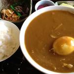 馳走屋 あ・うん - カレーうどん定食。これにドリンクバーが付いて750円。(2013/4時点)