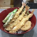 満天 - 料理写真:春風天丼