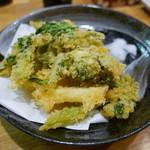 対馬 - 春野菜の天ぷら(1280円)