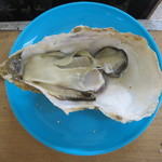 牡蠣小屋 住吉丸 - かなり大きいのですが粒より殻の大きさ際立って…