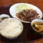 彩門 - 国産和牛の焼き定食 うまいっす。