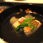 花邑 - 甘鯛と桜豆腐。