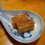料亭 大安樓 - 定食に付くデザート(生クリームの風味で硬いスイーツ)美味しいです