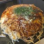お好み焼き ちどり - トマトチーズ焼き1000円+そば1.5で150円