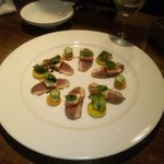 ふうじん - 鴨ムネ肉の燻製 サラダ風オードブル(1380円)