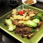 ロン ファン - 和牛ランプ肉の紅葱醤炒め 1,200円