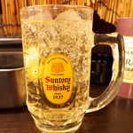 串かつ 前田製作所 - 角ハイボール(¥400)。ウイスキーがしっかり香る、濃さは十分です
