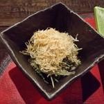 たけの蔵 - 「小松菜の煮浸し」です。