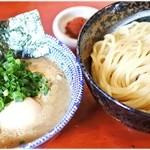 二代目 狼煙 - 辛つけ+味玉 850円+100円 濃厚Wスープと太麺。やっぱり美味い♪