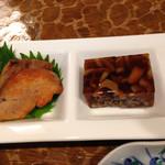 鮨処 佐助 - あん肝と煮こごり