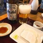 49044730 - かまぼこ(650円)・ビール小(600円)