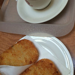 サンドイッチ工房 victory cafe - ハッシュドポテト2人分とコーヒー