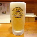 そば處へん古 - 生ビール(640円)