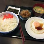 なか卯 船橋競馬場駅前店 - 目玉焼き牛小鉢定食(^∇^)