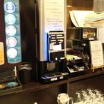 くれたけイン - コンビニと同じというコーヒーマシン。