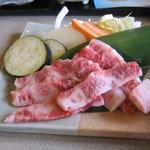 じゃばら食堂 - 牛焼肉膳(熊野牛)