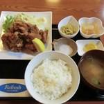 矢沢食堂 - 鶏唐揚げ定食