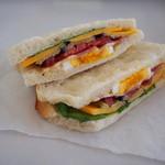 hana - チェダーチーズとグリル茄子のサンド♪290円
