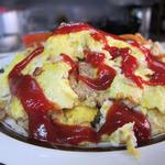 フジランチ - ハンバーグカントリー(挽肉の玉子炒め)