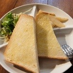 蒲田蔵の珈琲 - バタートーストのセット