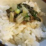 拉麺 札幌ばっち軒 - 残ったスープぶっかけてセルフ雑炊!