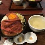 ローストビーフ大野 - ローストビーフ丼定食。税込1080円